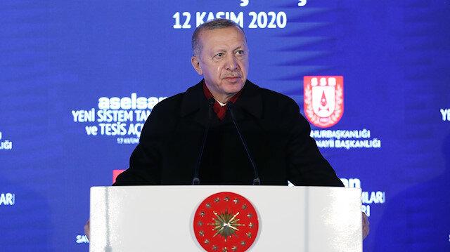Cumhurbaşkanı Erdoğan: Dünyanın ilk 100 savunma şirketi listesinde 7 firmayla temsil ediliyoruz