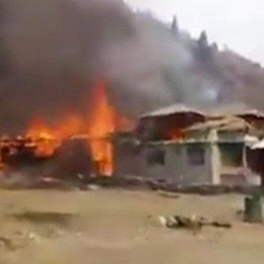 Hindistan Keşmirde yerleşim yerlerine saldırdı