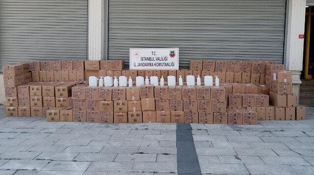 İstanbul'da 8 ton sahte dezenfektanı piyasaya süreceklerdi: Jandarma el koydu