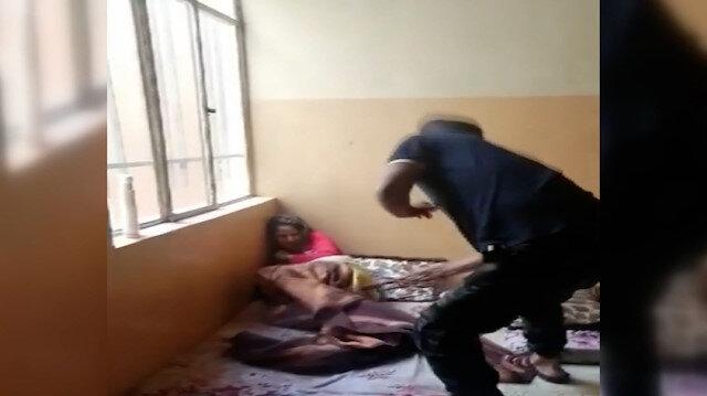 Iraklı vicdansız babanın 13 yaşındaki kızını kemerle dövdüğü anlar kamerada: Anne, yetkililerden yardım istedi