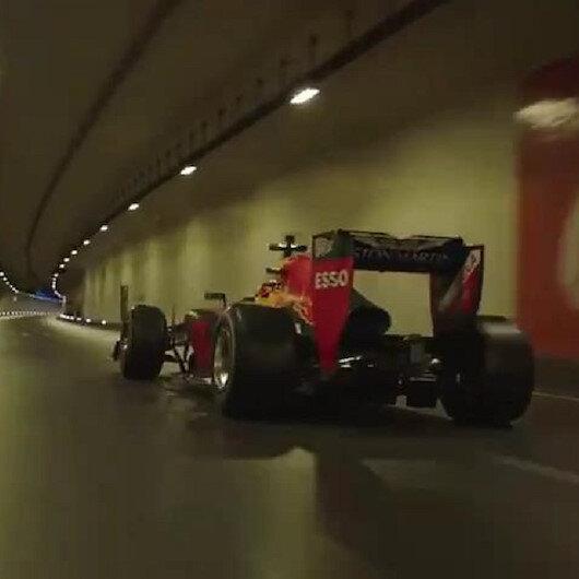 F1 aracı Avrasya Tüneli'ni inletti