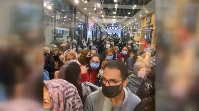 İran'da pandemi günlerinde izdihama yol açan iş yeri kapatıldı