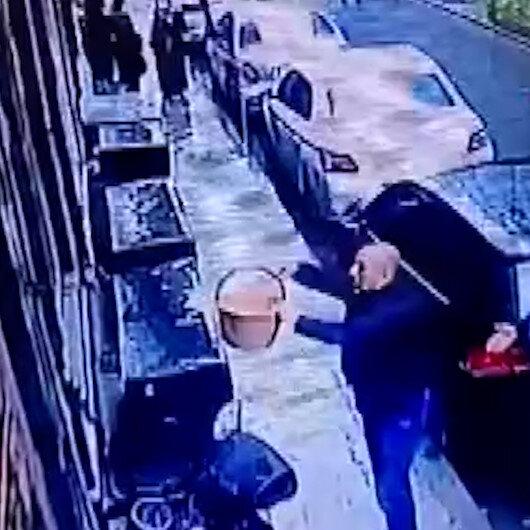 Balkondan sepetle sarkıtılan silahları alıp saldırı düzenlediler