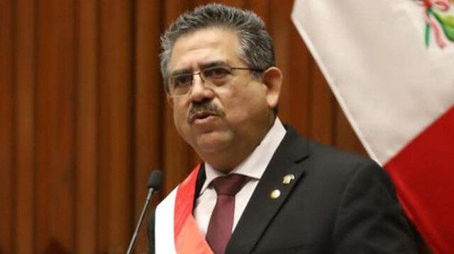 Peru'da geçici Devlet Başkanı Manuel Merino istifa etti