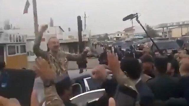 Aliyev işgalden kurtarılan Fuzuli'de alkışlarla karşılandı