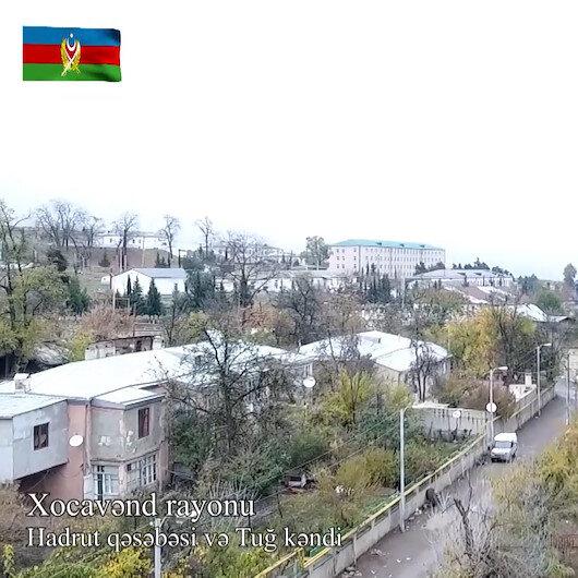 Dağlık Karabağda işgalden kurtarılan bölgeler havadan görüntülendi