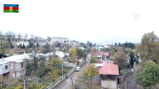 Dağlık Karabağ'da işgalden kurtarılan bölgeler havadan görüntülendi