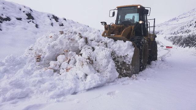 Şemdinli'de karla mücadele
