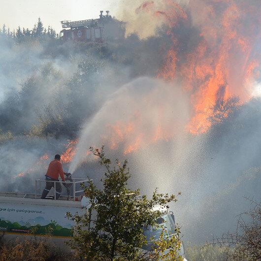 Antalyada makilik alanda yangın: 5 dekar alan kül oldu