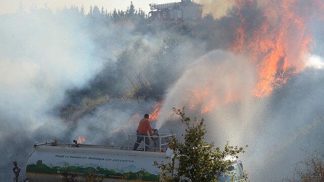 Antalya'da makilik alanda yangın: 5 dekar alan kül oldu