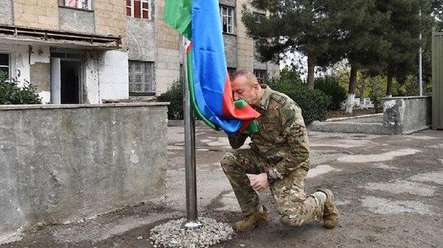 Cumhurbaşkanı Aliyev'den Karabağ'da zafer turu: Fuzuli ve Cebrail'i 27 yıl sonra ilk kez ziyaret etti