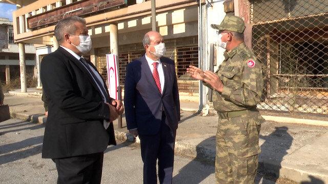 KKTC Cumhurbaşkanı Tatar Maraş'ta incelemelerde bulundu
