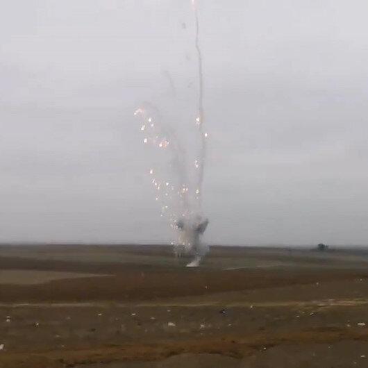 Savaş suçu işeyen Ermenistanın Fuzuliye attığı fosfor mermisi imha edildi