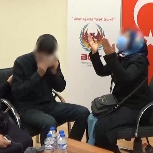 Teslim olan terörist Muş'ta ailesiyle buluştu: Oğlum o domuzların elinden kurtuldu