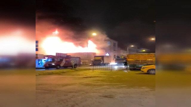 Bahçelievler'de iş yerinde önce yangın sonra patlama: Allah'tan kimse yoktu, mutluyuz