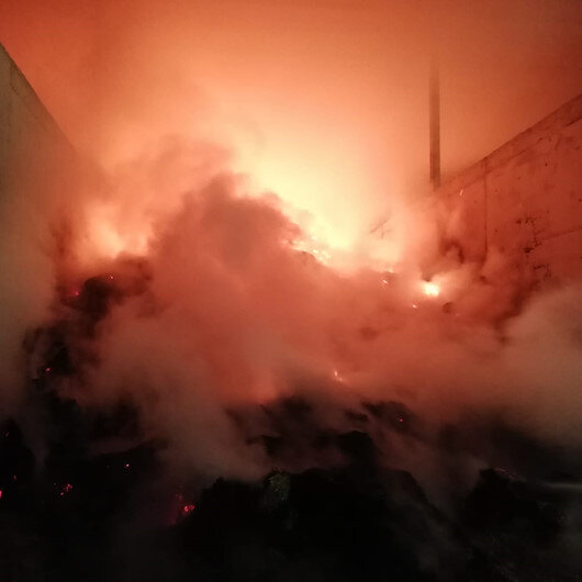 Amasyada yem deposunda yangın çıktı