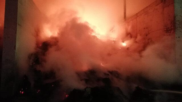 Amasya'da yem deposunda yangın çıktı