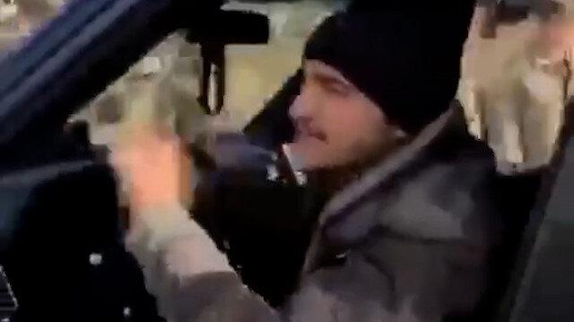 Azerbaycanlı vatandaş ve asker arasında tebessüm ettiren diyalog