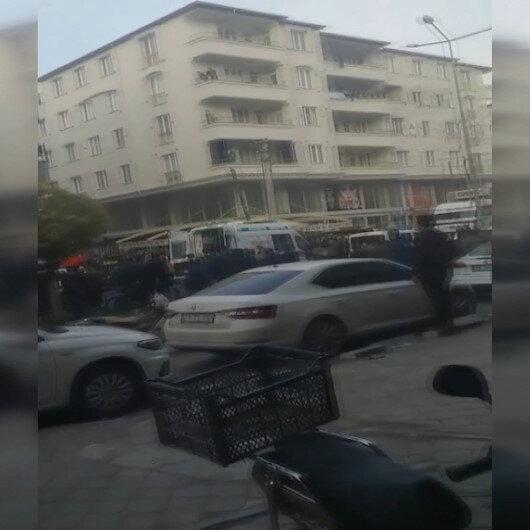 Iğdırda silahlı çatışma: Bir kişinin yaralandığı olaya ilişkin görüntüler kamerada