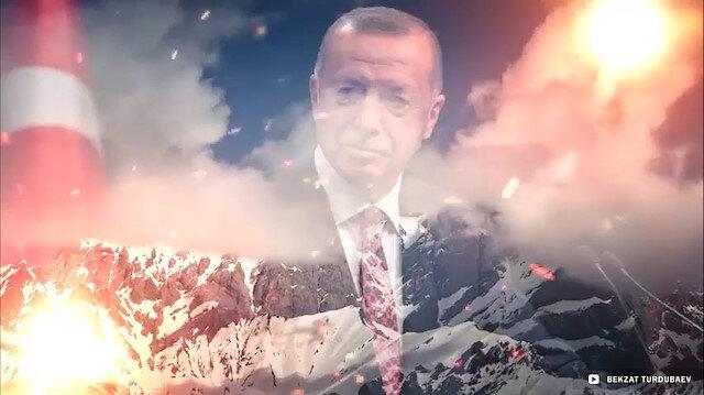 Kırgızistanlı sanatçıdan muhteşem Türkiye Marşı