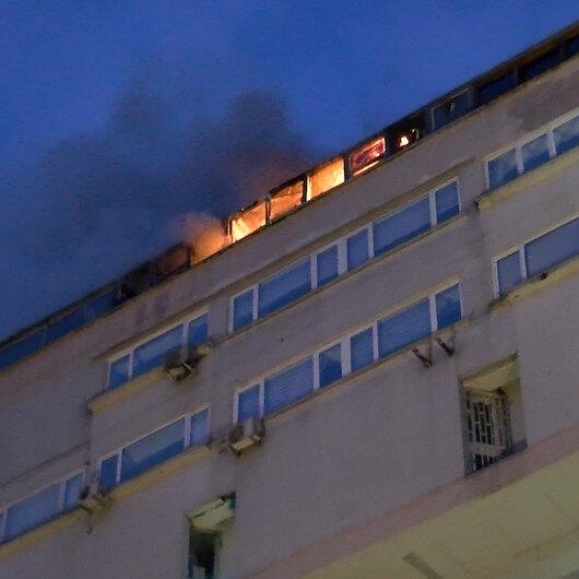 Perpa iş merkezinde yangın