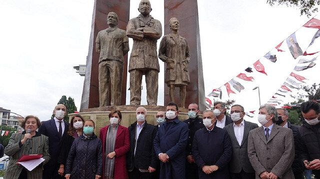 CHP'li Bakırköy Belediyesi'nden sağlık çalışanlarına heykelli destek