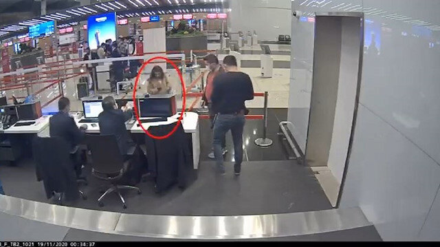 Sahte pasaportla Brezilya'ya kaçmaya çalışan PKK'lı kadın havalimanında enselendi