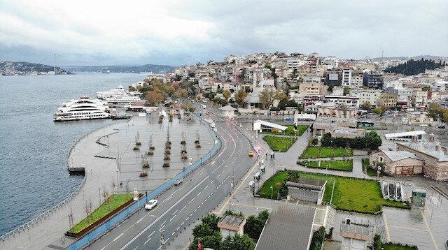 Kısıtlama sonrası Üsküdar ve Kadıköy Meydanı havadan görüntülendi