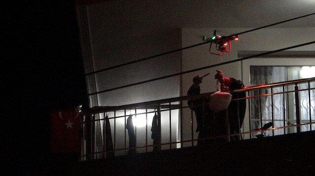 Kısıtlama geleneği bozmadı: Evlere drone ile şırdan servisi