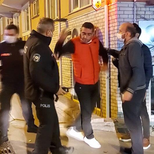 Bursada yasağa rağmen sokağa çıktı, polisleri ve gazetecileri tehdit etti