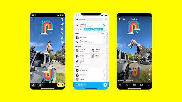 Snapchat, TikTok'a takip olabilecek Spotlight özelliğini duyurdu