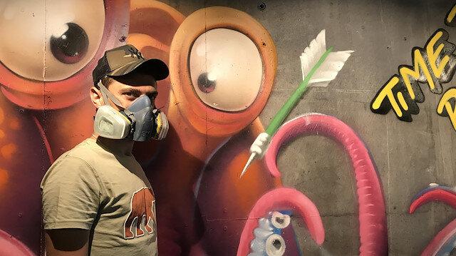 5 binden fazla grafiti çalışması yaptı: Şimdi de dünyayı boyamak istiyor