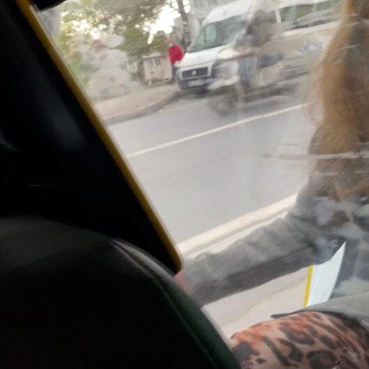 İstanbulda taksiden atlamaya çalışan alkollü kadın, sürücüye zor anlar yaşattı: Ben zaten karakolum, sen suçlu sayılırsın