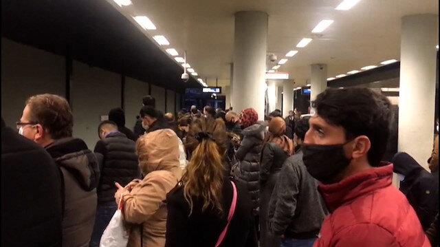 Kirazlı-Yenikapı metrosunda korkutan görüntü: Koronavirüs unutuldu