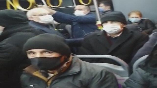 İstanbul'da yine aynı manzara: İETT otobüsünde sırt sırta yolculuk