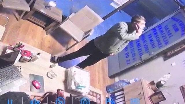 Seyrantepe'de polis, hırsızı terliğinden yakaladı