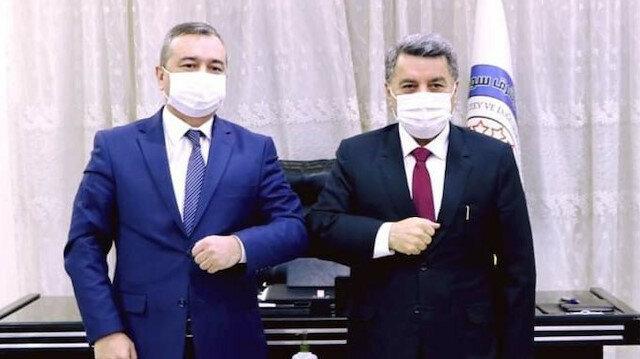 Özbekistan başbakanının danışmanından terör örgütü PYD/YPG'ye ziyaret