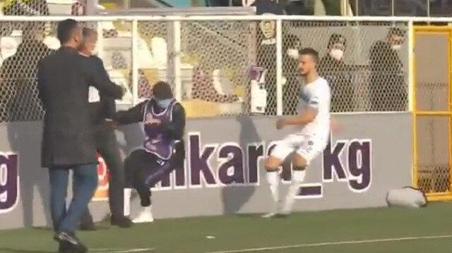 TFF 1. Lig'de olay hareket: Top toplayıcıya şut attı kırmızı kart gördü