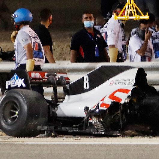 Formula 1'de Bahreyn yarışında inanılmaz kaza: Bu araçtan sağ kurtuldu