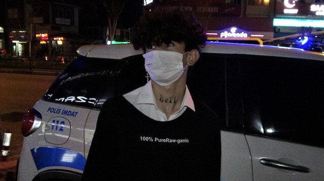 Gece yarısı sokakta yakalanan genç:
