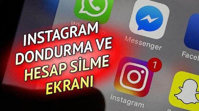 Instagram hesabı kalıcı silme dondurma ve kapatma işlemleri