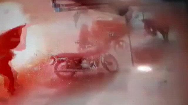 Cerablus'taki bombalı saldırı anı güvenlik kamerasında