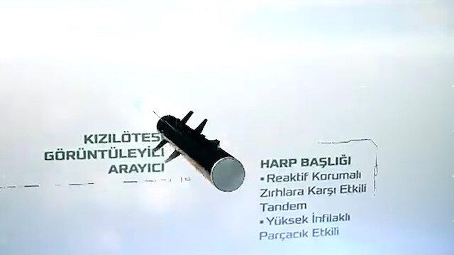 Türkiyenin ilk yerli tanksavar füze sistemi UMTAS görevinin başında