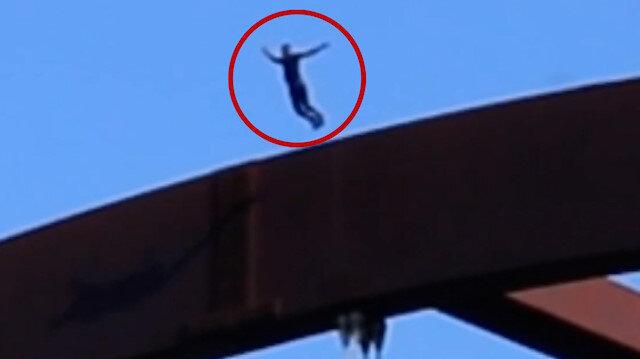 Köprüden nehre atlayarak kafatasını kıran YouTuber'ın tehlikesi gösterisi kamerada