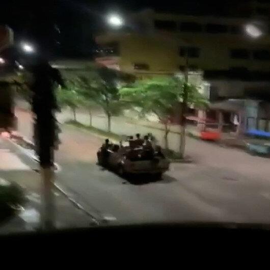 Brezilyada savaş gibi soygun: Hırsızlar polisle çatıştı, şehri kuşattı