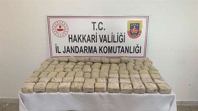 Hakkari'de zehir tacirlerine darbe: 159 kilo 566 gram uyuşturucu ele geçirildi