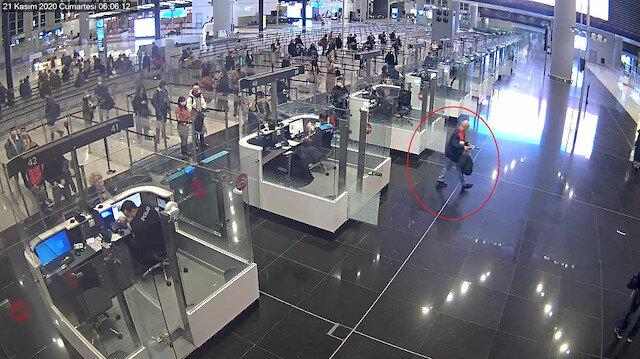 İstanbul Havalimanı'nda göçmen kaçakçılığı operasyonu kamerada