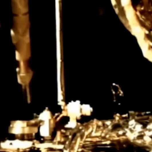 Çine ait uzay aracı Change-5in Ayda kaya örnekleri topladığı o anlar görüntülendi