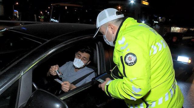 İstanbul'da kısıtlama denetimleri sabah kadar devam etti
