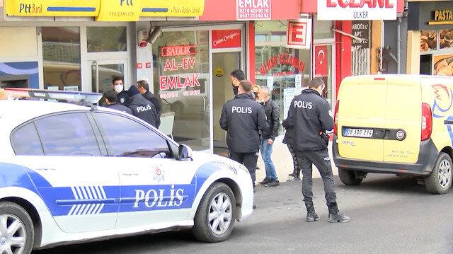 Ataşehir'de PTT'ye giren silahlı soyguncu pişman olup para ve silahını yere bırakarak teslim oldu
